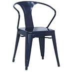 alonso modern industrial dining chair