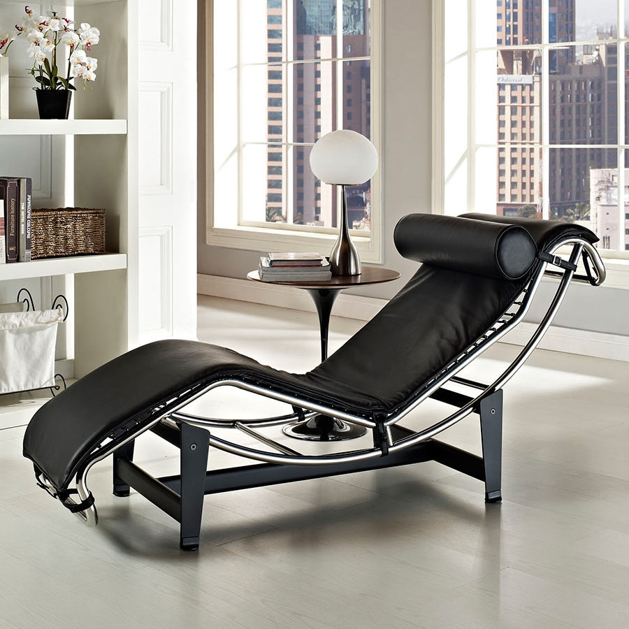 Modern Chaise Lounges Amaca Black Chaise Lounge Eurway