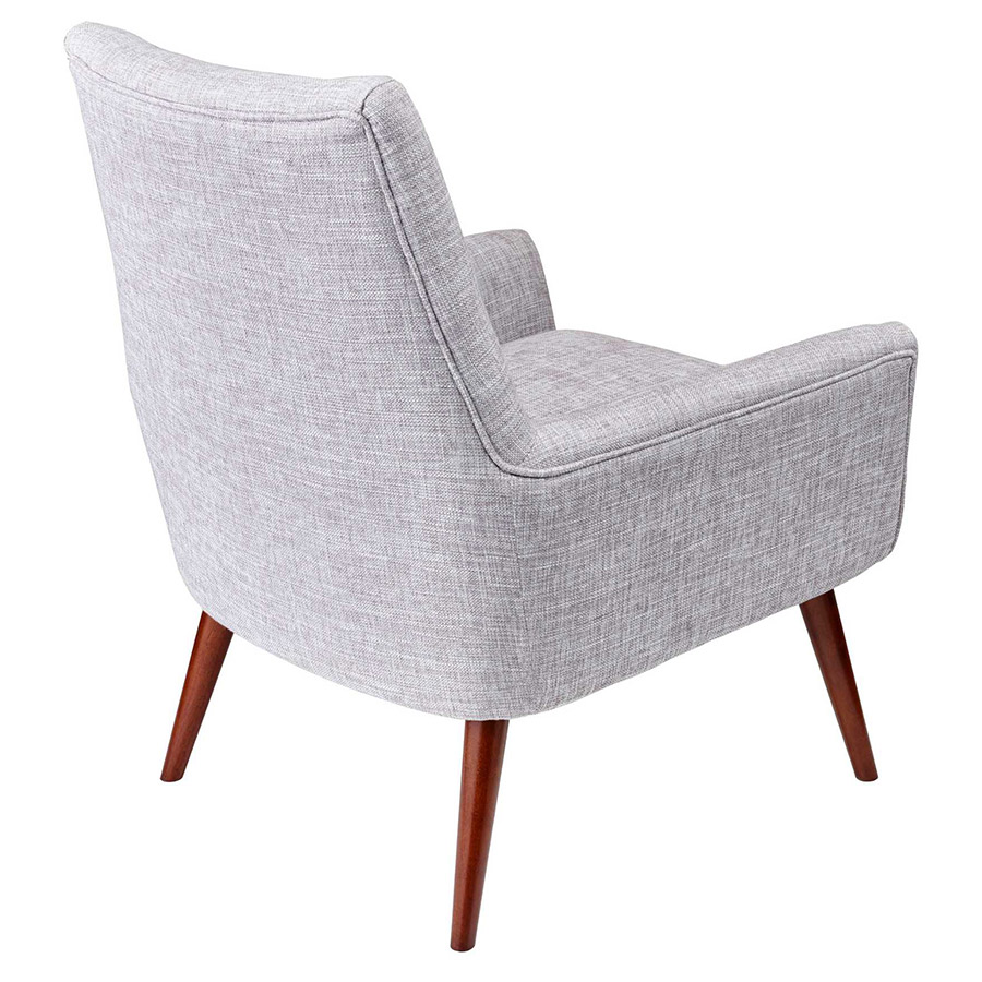 Anderson Modern Light Grey Lounge Chair - Back View