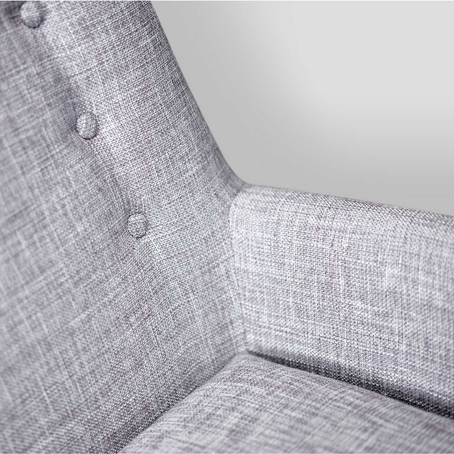 Anderson Light Grey Chair - Fabric Detail