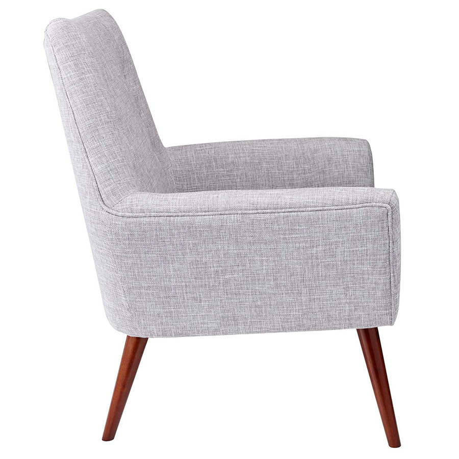 Anderson Modern Lounge Chair in Light Grey - Side View