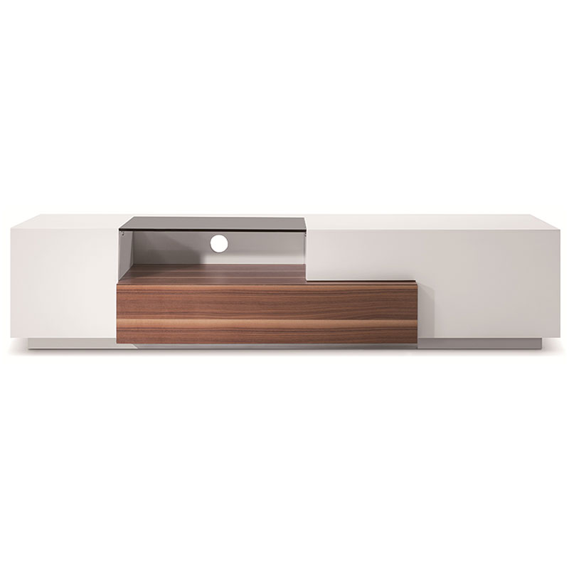 Archer Light Walnut + White Modern TV Stand