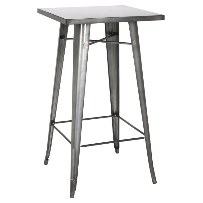 avery modern industrial bar table