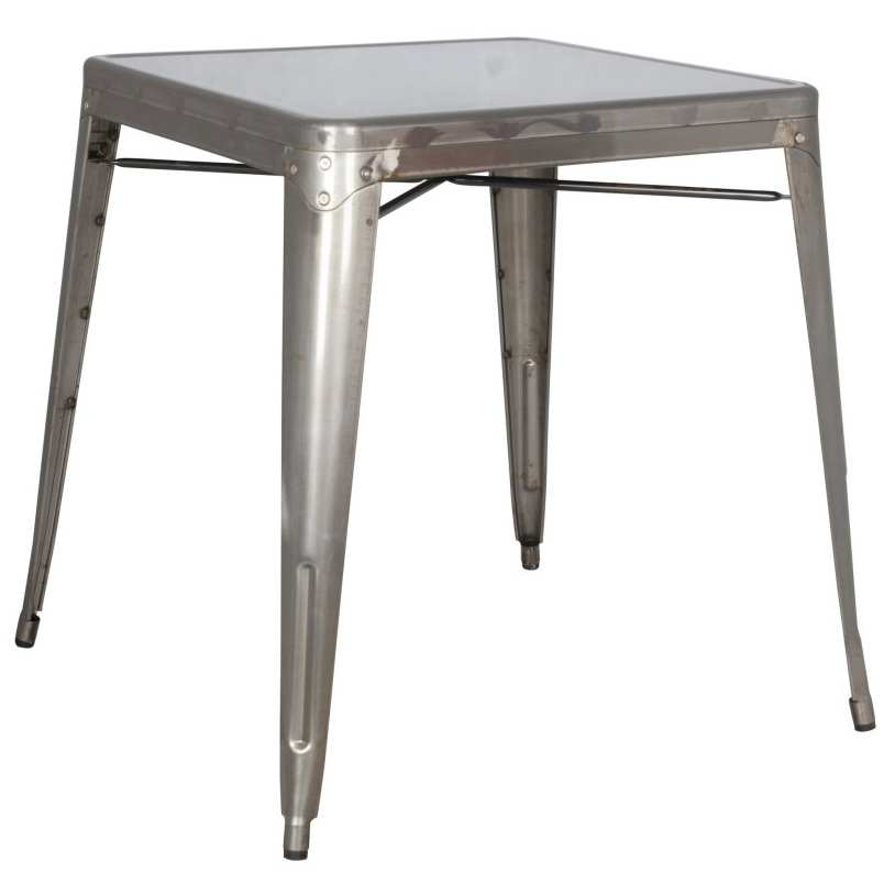 avery modern industrial dining table