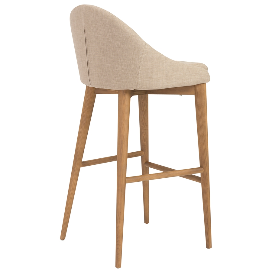 Barrett Modern Tan Bar Stool - Back View
