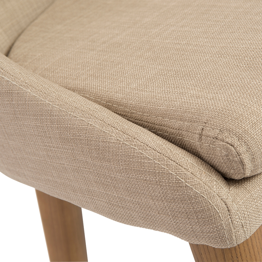 Barrett Modern Tan Stool - Fabric Detail