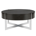 billy modern coffee table in wenge and chrome
