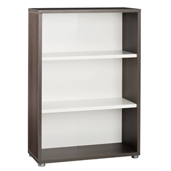 Bock Low Bookcase - Oak and White