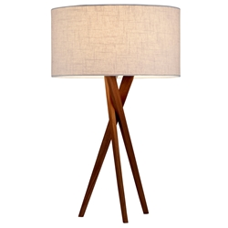 Brownlyn Contemporary Walnut Table Lamp