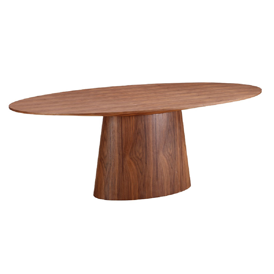 Chisolm modern oval dining table eurway furniture for Oval dining table