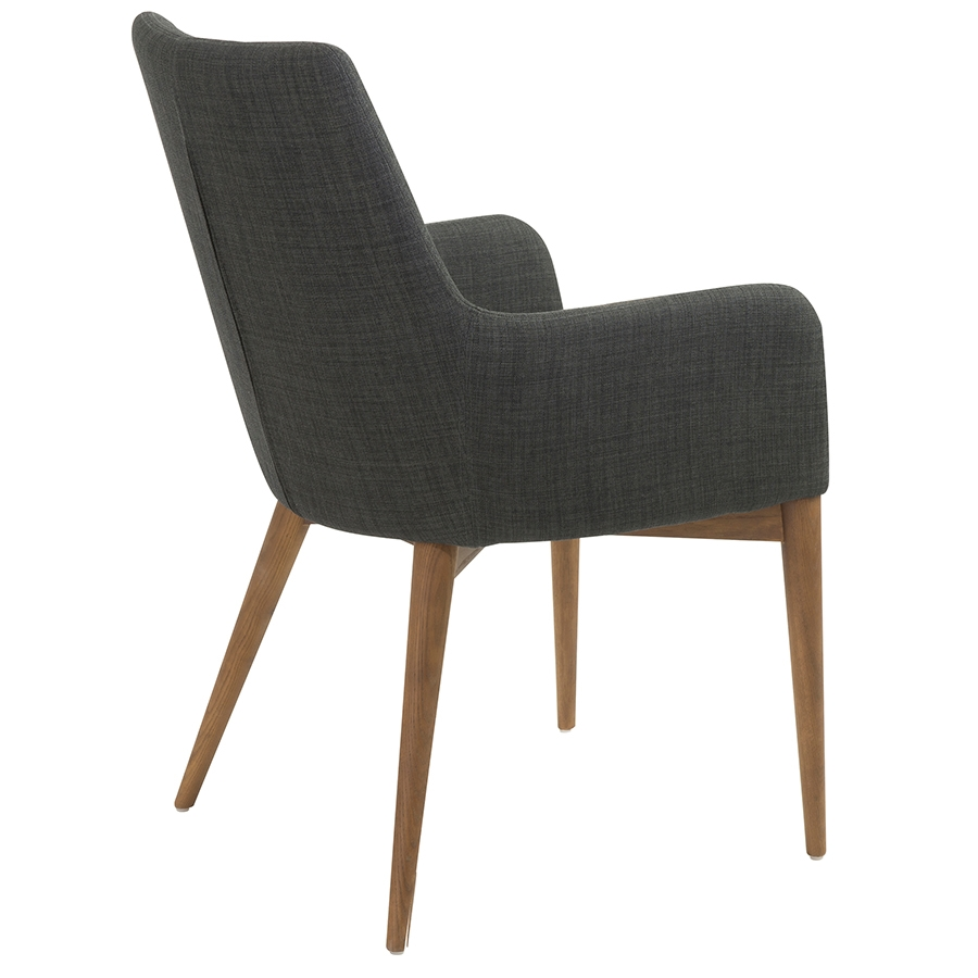 Clayton Charcoal Modern Arm Chair - Back View