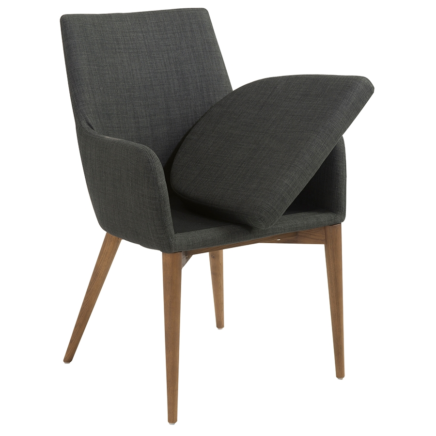 Clayton Contemporary Charcoal Arm Chair - Seat