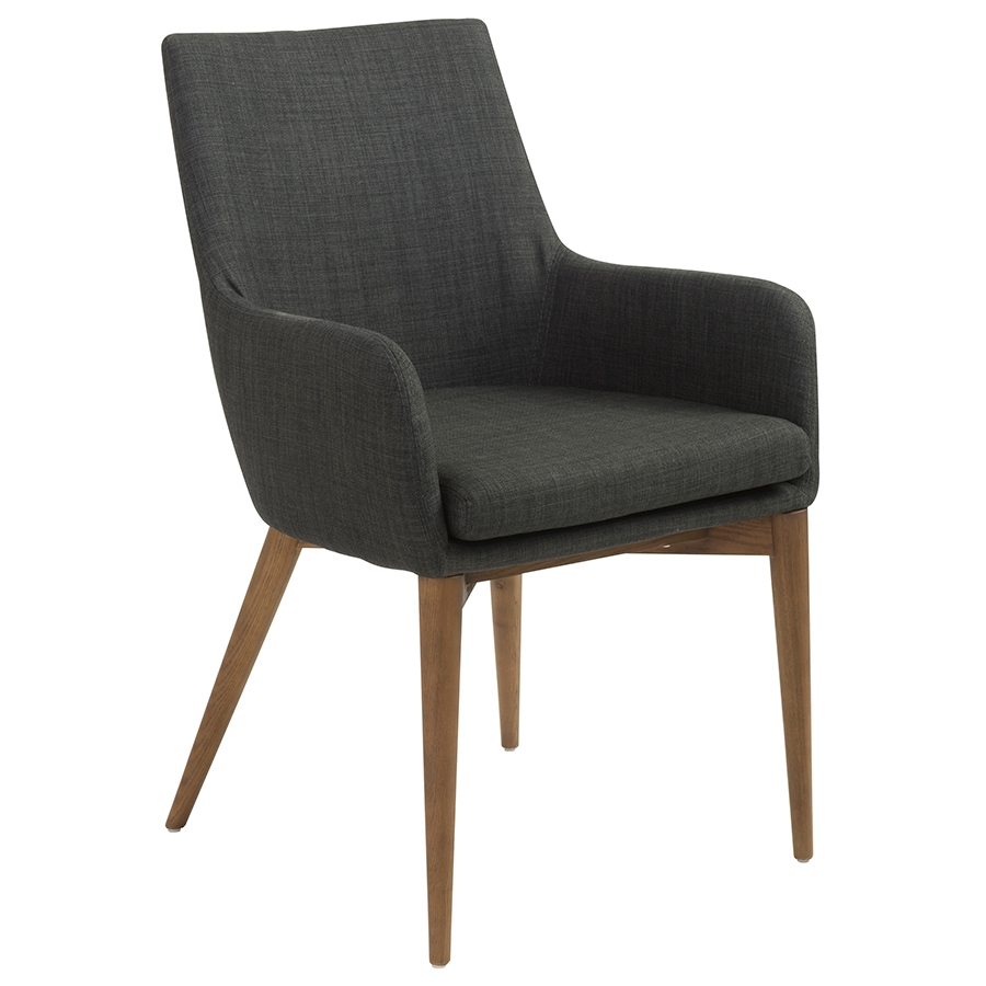 Clayton modern charcoal arm chair eurway furniture for Modern arm chair