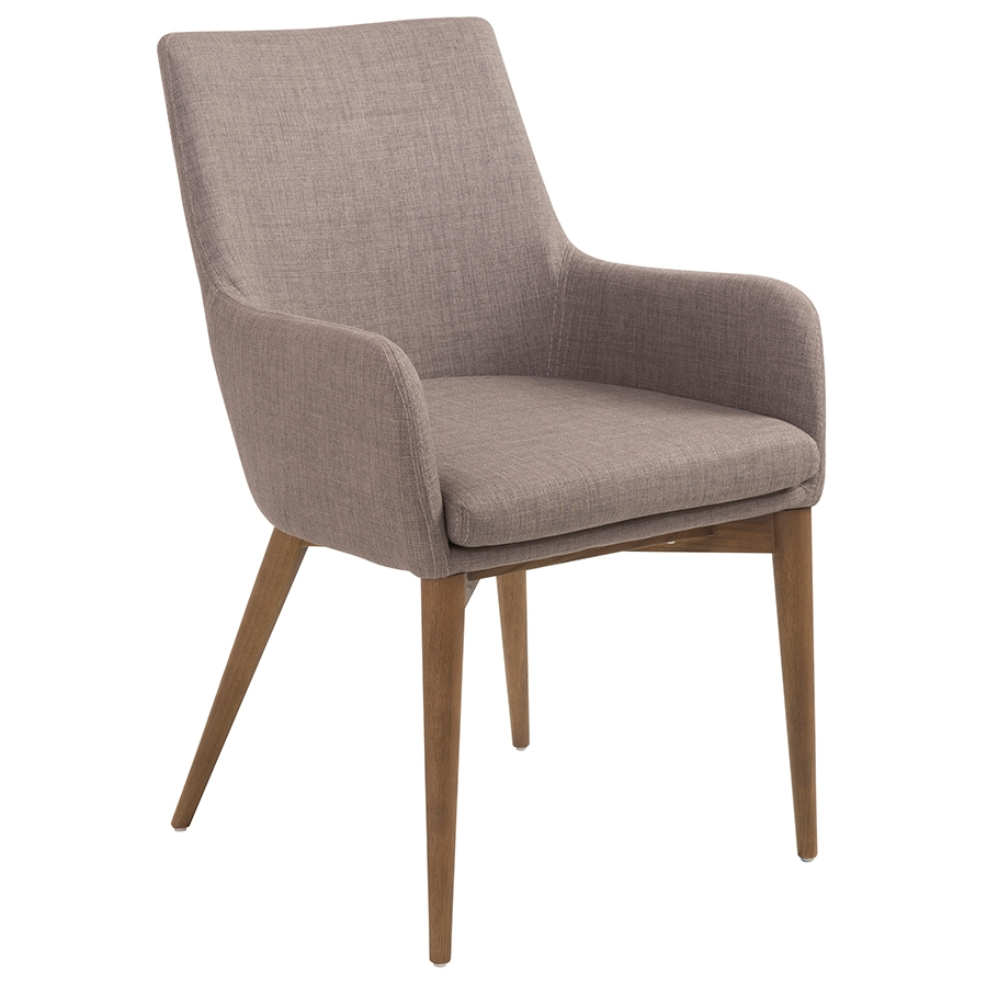 modern dining chairs  clayton gray arm chair  eurway - clayton gray modern arm chair