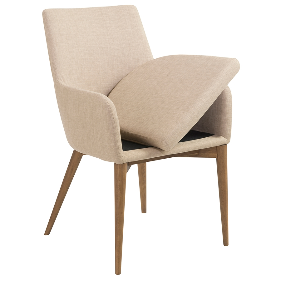 Clayton Contemporary Tan Arm Chair - Seat