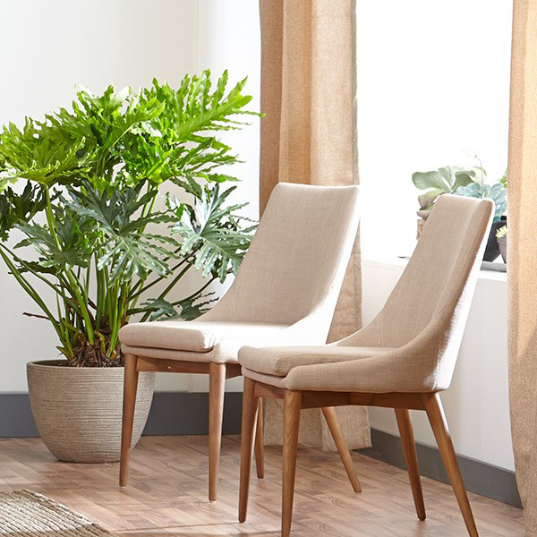 Clayton Contemporary Tan Side Chair
