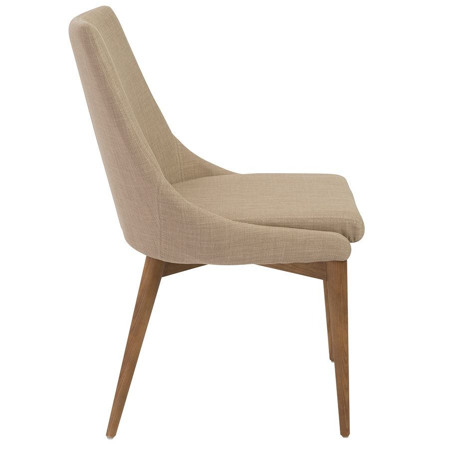 Clayton Tan Modern Side Chair - Side View