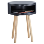 Collie Modern Side Table in Black