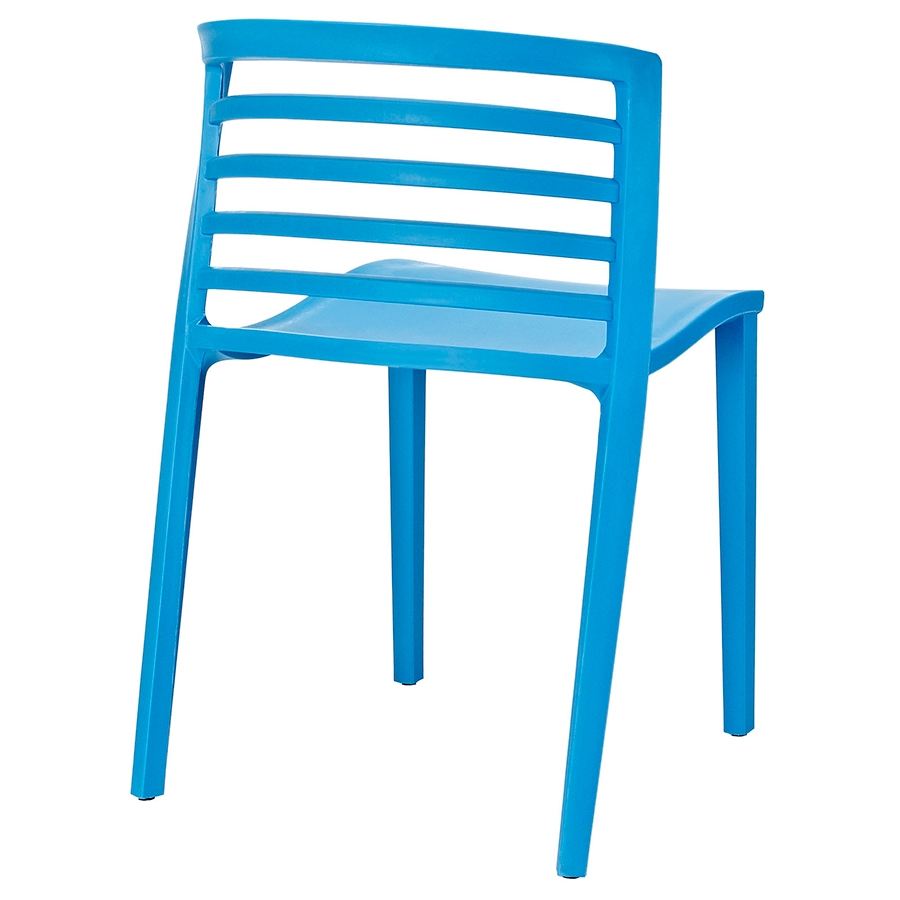 Contour Blue Modern Dining Chair - Back View