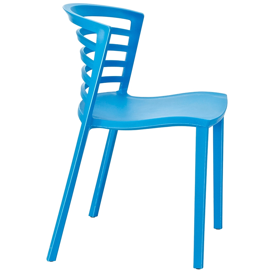 Contour Blue Modern Dining Chair Modern Dining Chair - Side View