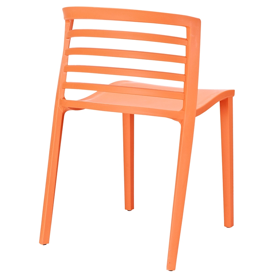 Contour Orange Modern Dining Chair - Back View
