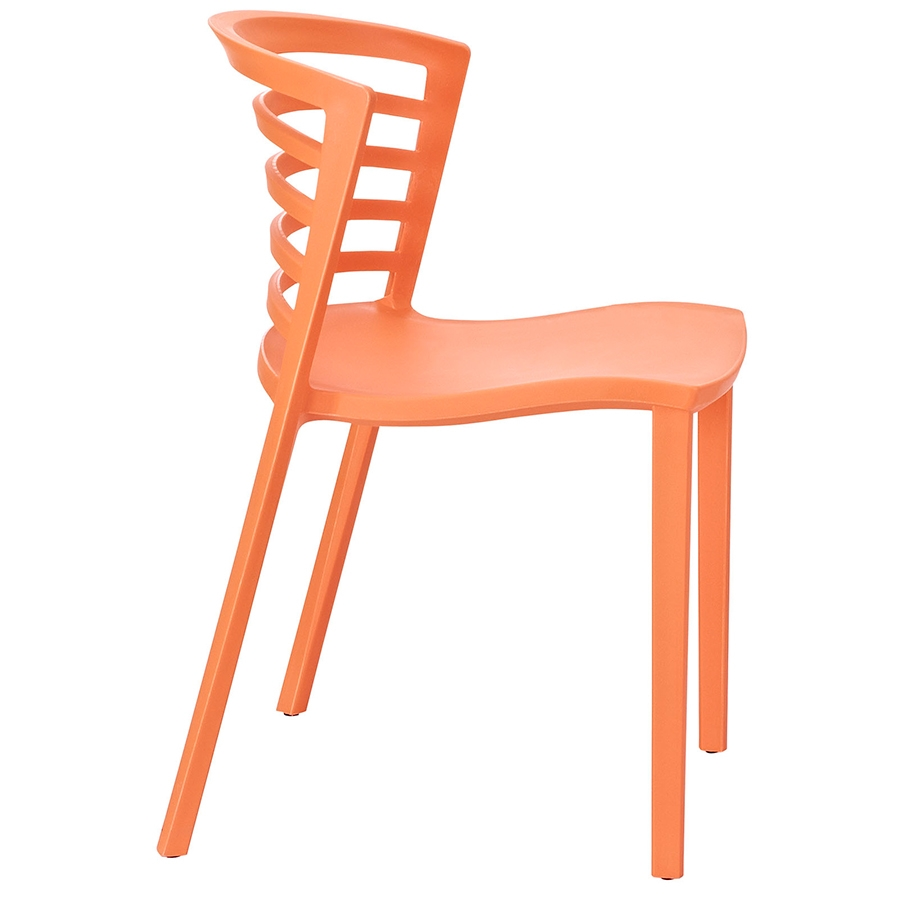 Contour Orange Modern Dining Chair Modern Dining Chair - Side View