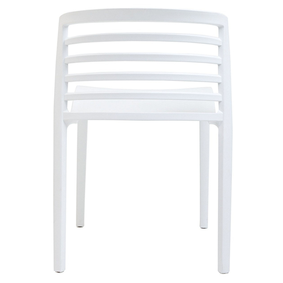 Contour White Modern Dining Chair Modern Dining Chair - Back View