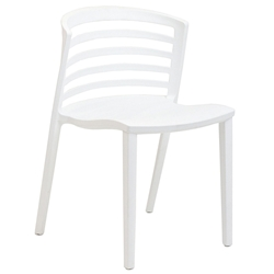 Contour White Modern Dining Chair