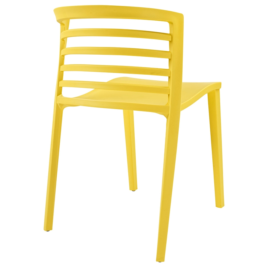 Contour Yellow Modern Dining Chair - Back View
