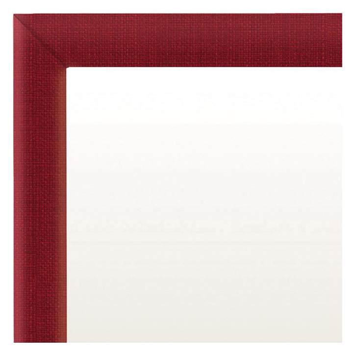 Delaney Mirror in Red Fabric- Close