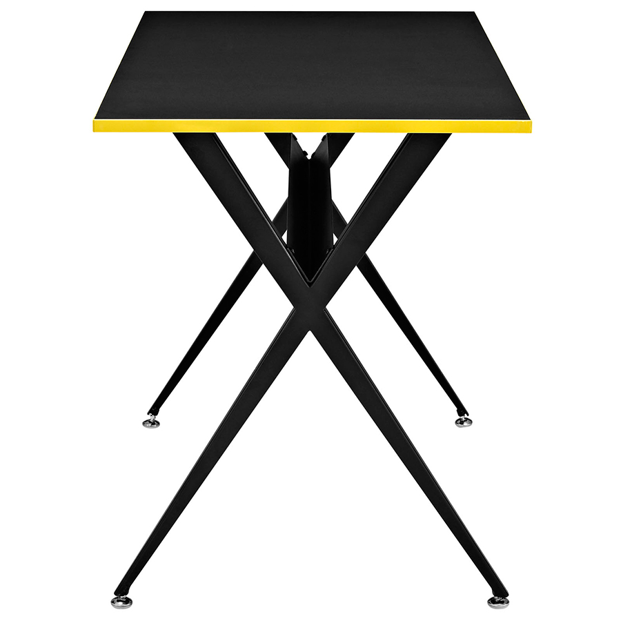 Ellington Modern Black Desk - Side View