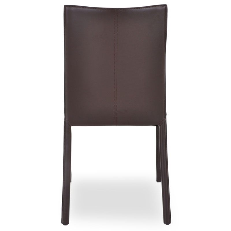 Emily Modern Dining Chair in Wenge - Back View
