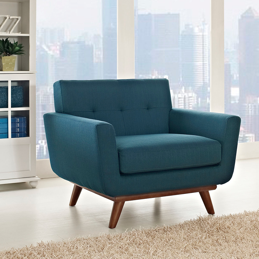 Empire Azure Contemporary Lounge Chair