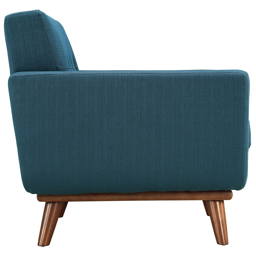 Empire Azure Modern Lounge Chair - Side View