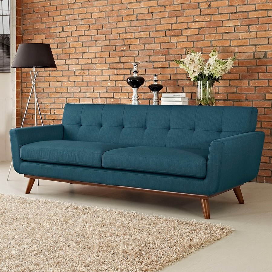 Empire Azure Contemporary Sofa