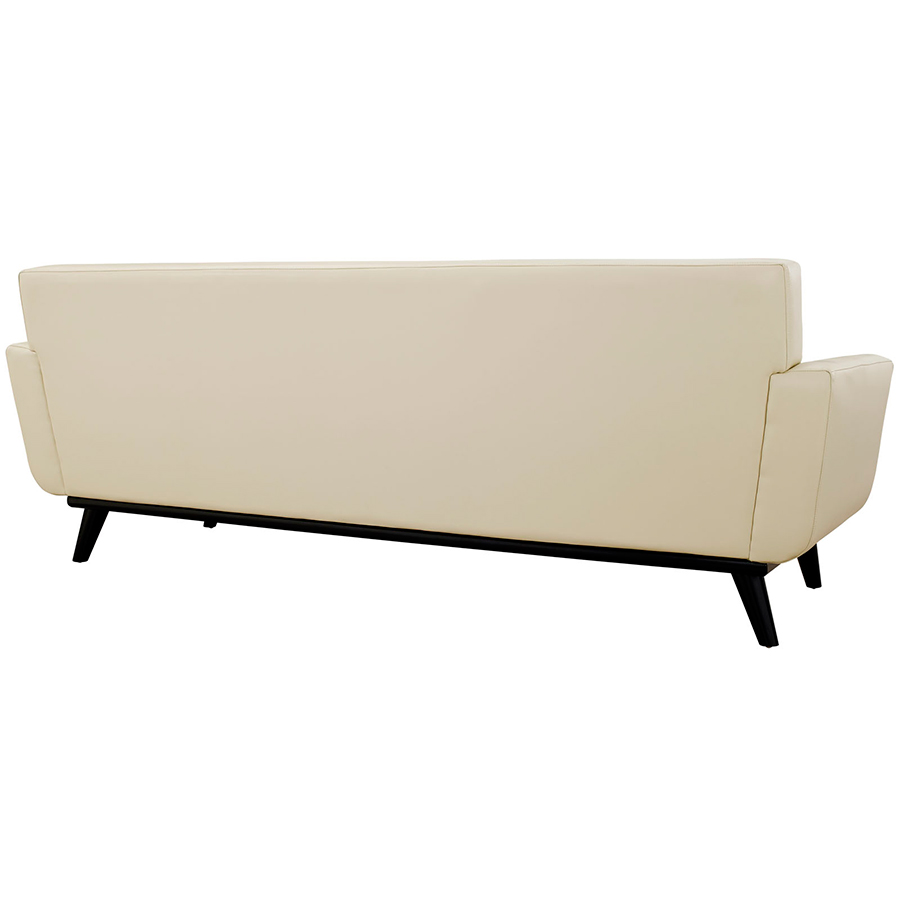 Empire Beige Leather Modern Sofa - Back View