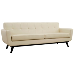 Empire Beige Leather Modern Sofa