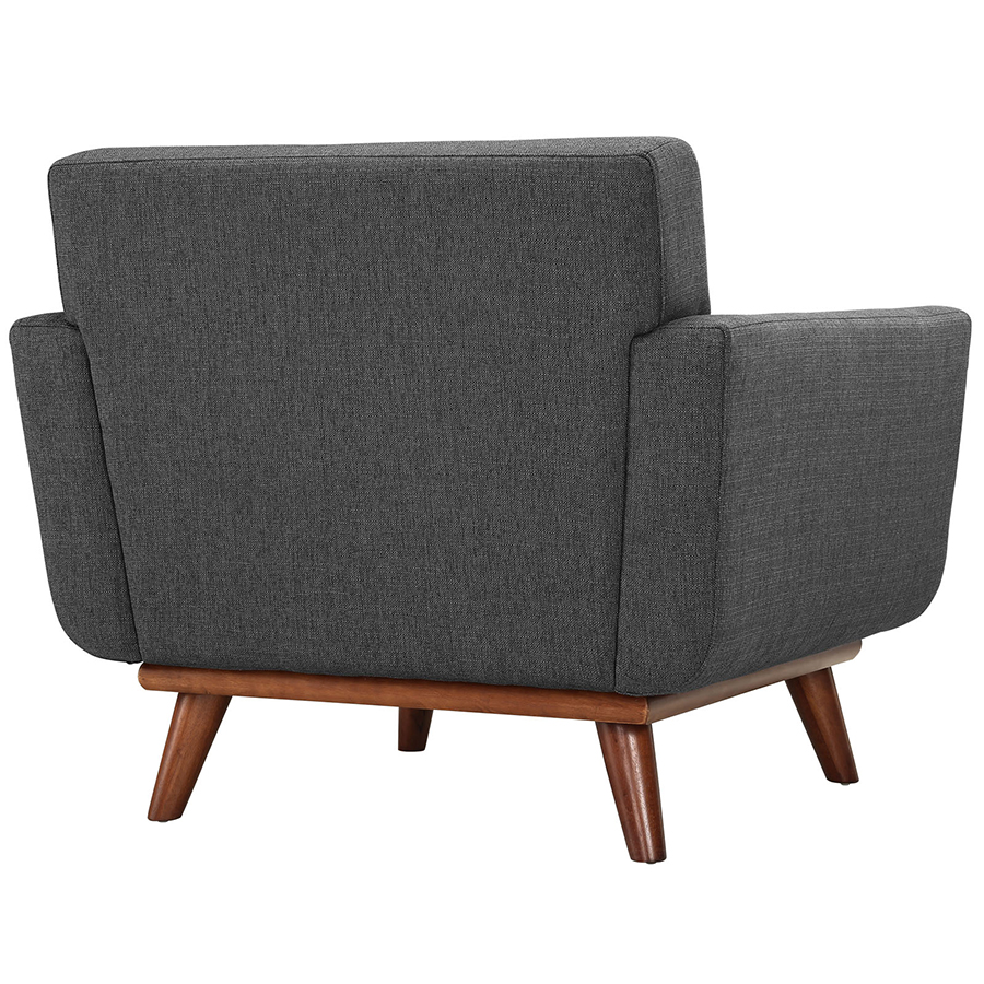 Empire Dark Gray Modern Lounge Chair - Back View
