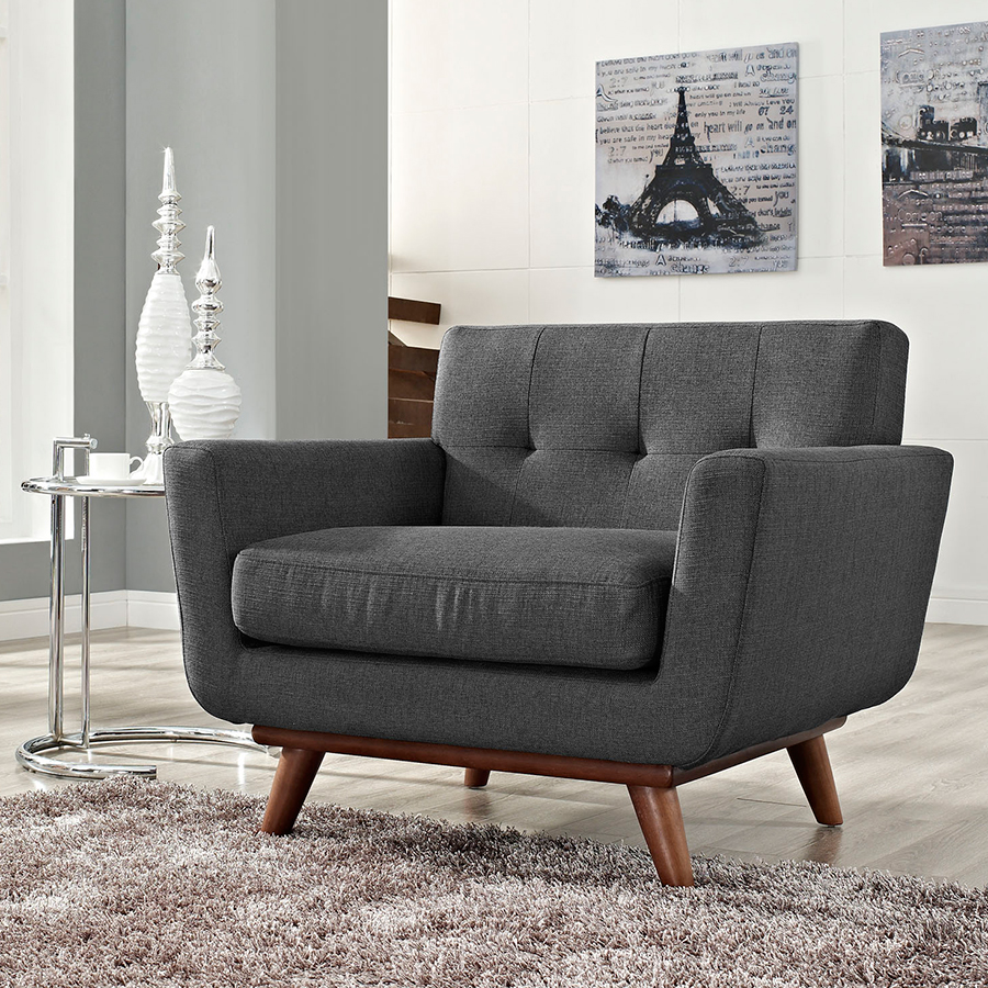 Empire Dark Gray Contemporary Lounge Chair