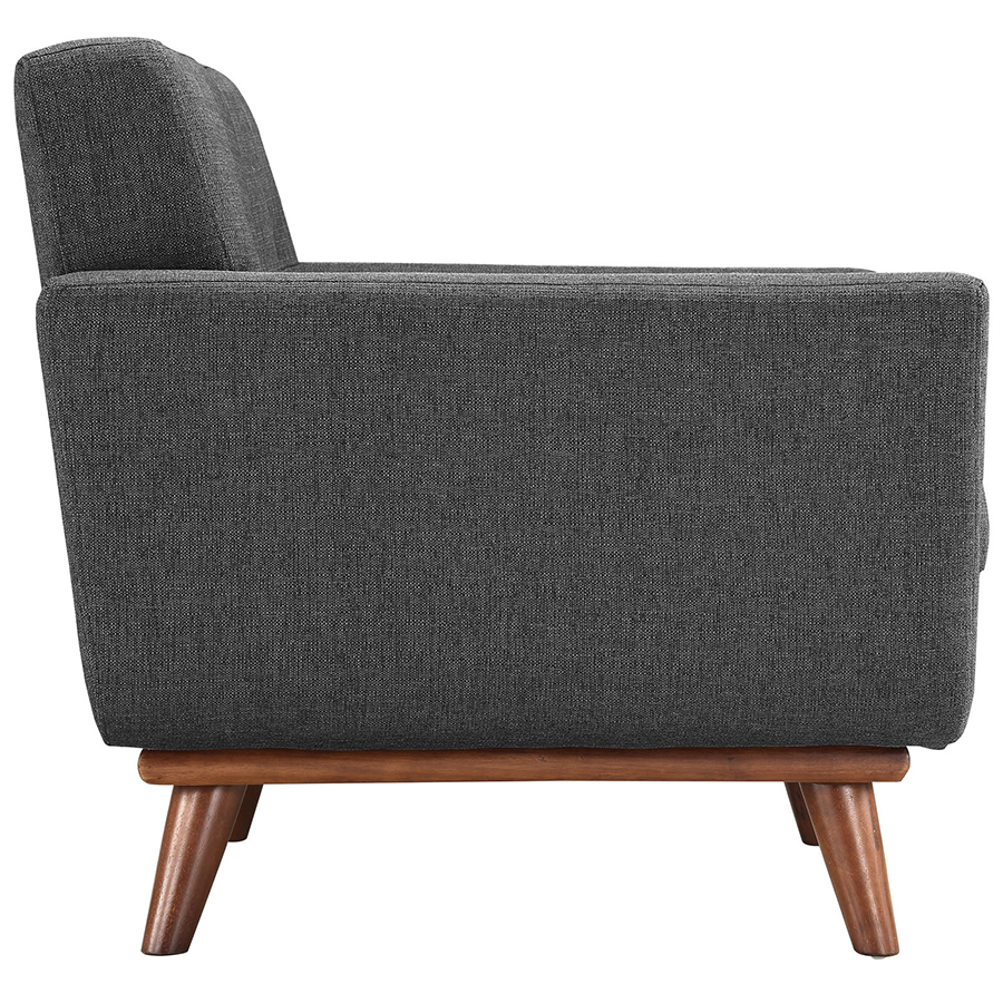 Empire Dark Gray Modern Lounge Chair - Side View