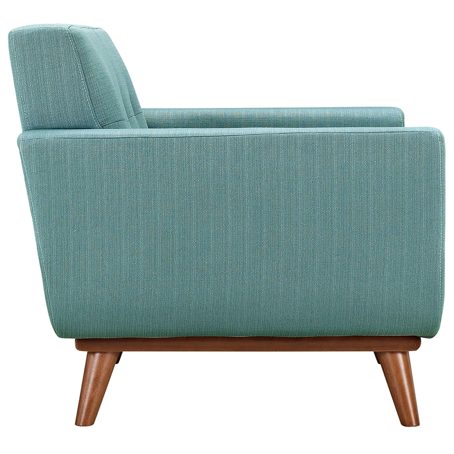 Empire Light Blue Modern Lounge Chair - Side View