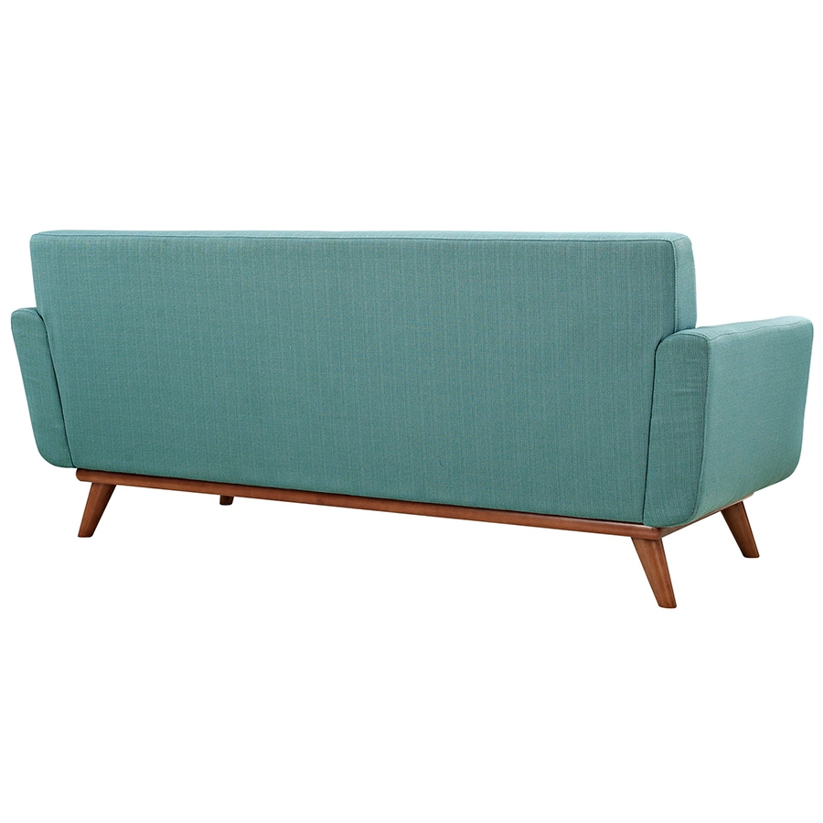 Empire Light Blue Modern Loveseat - Back View
