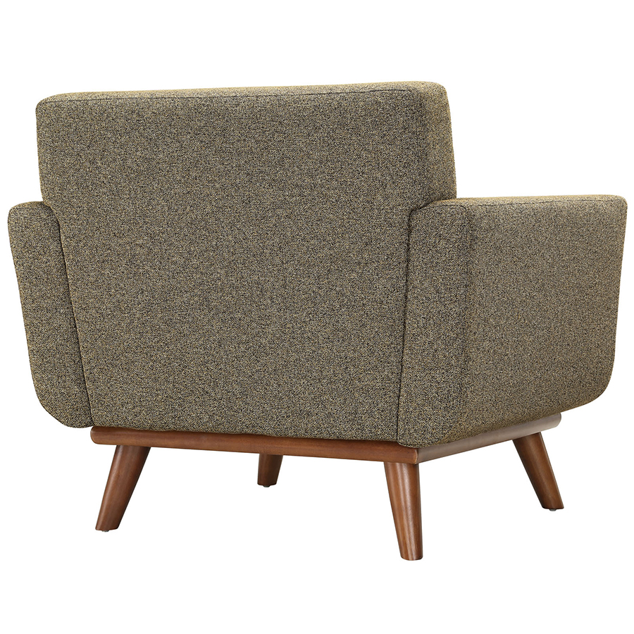 Empire Oatmeal Modern Lounge Chair - Back View