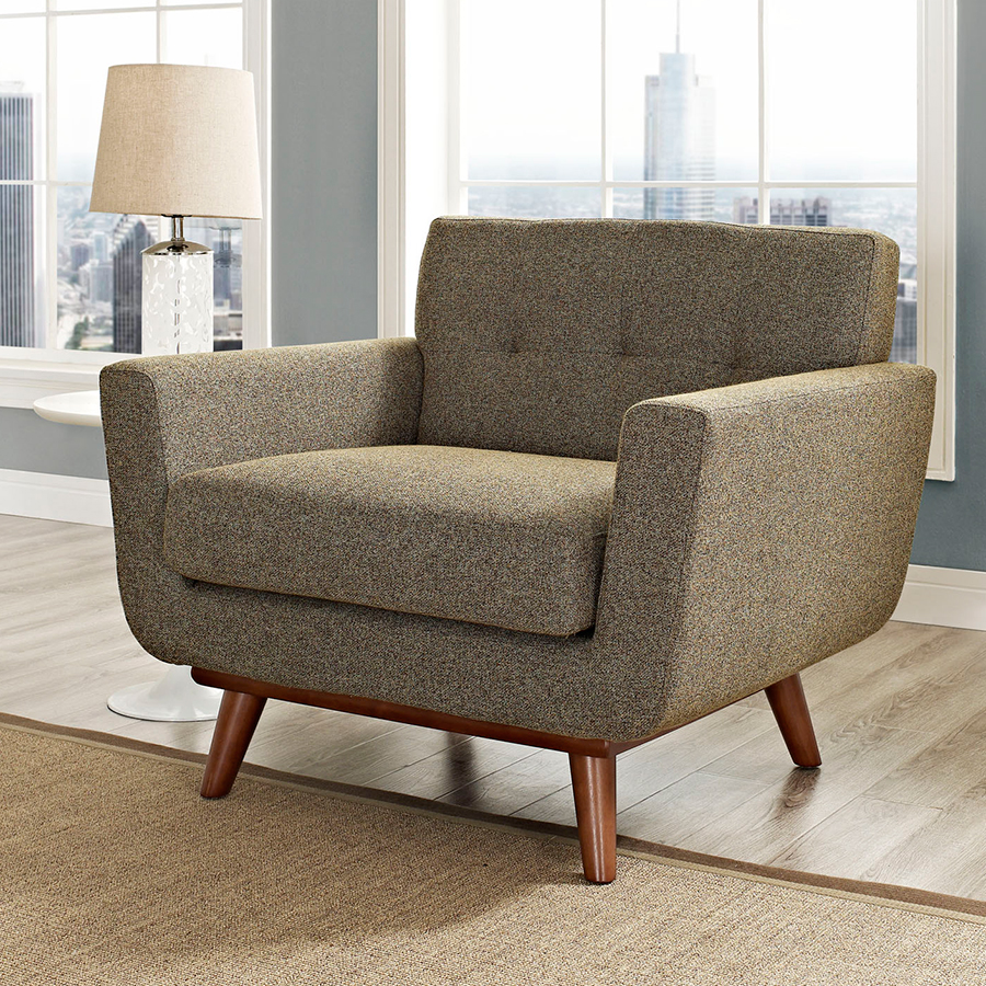 Empire Oatmeal Contemporary Lounge Chair