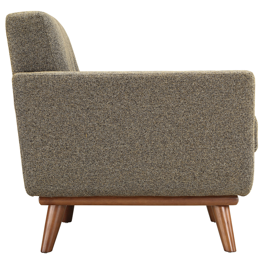 Empire Oatmeal Modern Lounge Chair - Side View