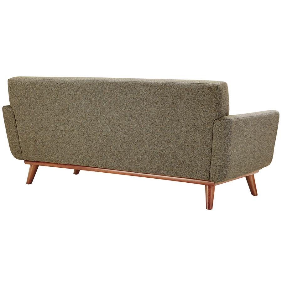 Empire Oatmeal Modern Loveseat - Back View