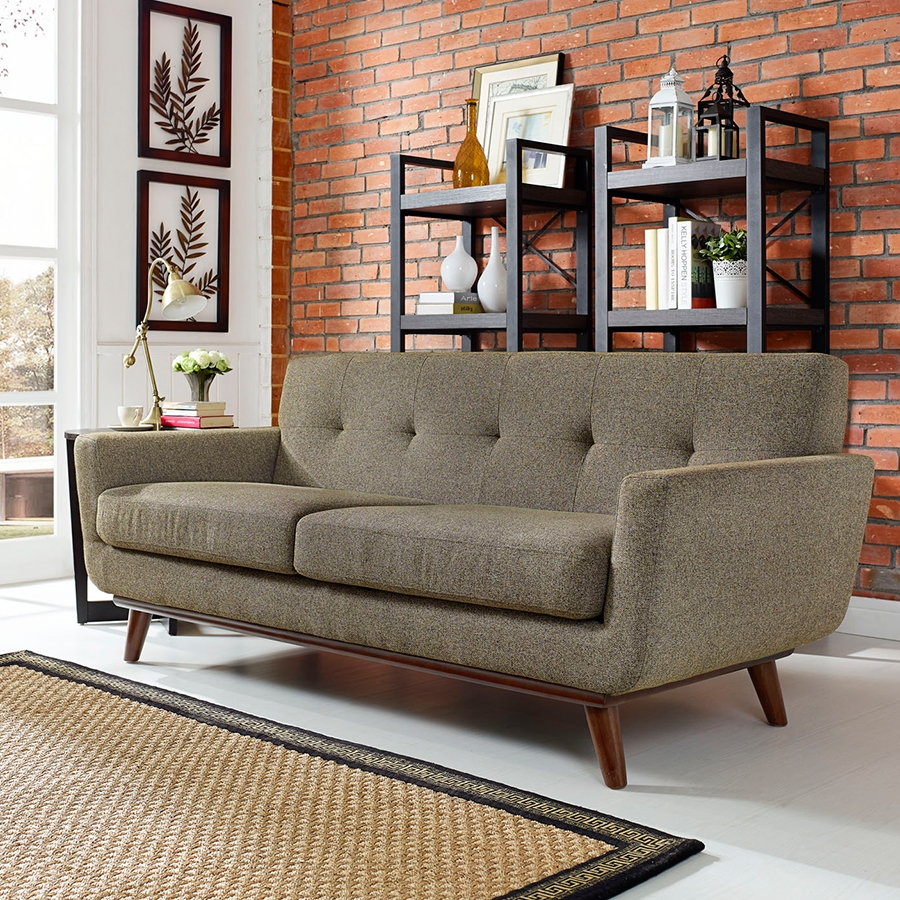 Empire Oatmeal Contemporary Loveseat