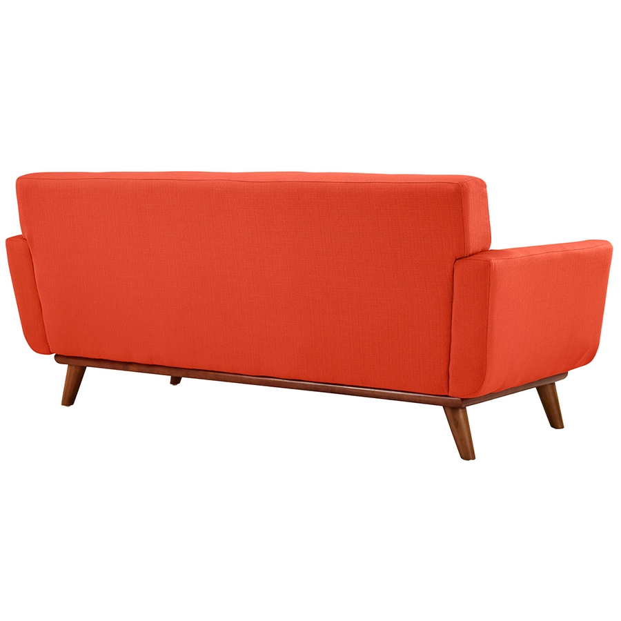 Empire Red Modern Loveseat - Back View