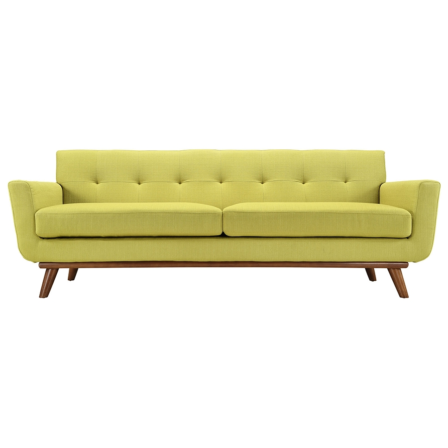 Empire Wheatgrass Modern Sofa - Front View