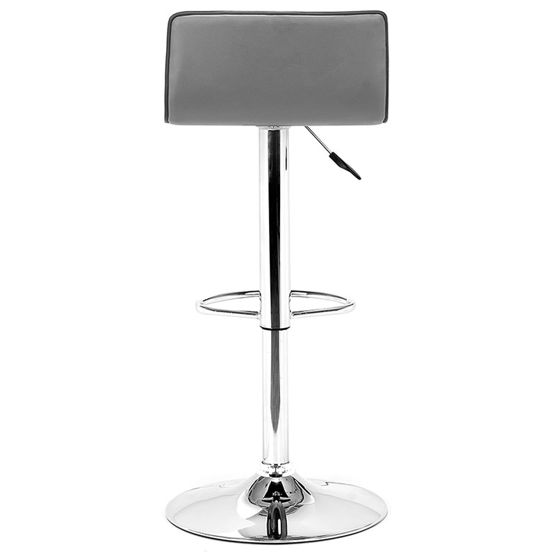 Ewing Modern Gray Adjustable Stool